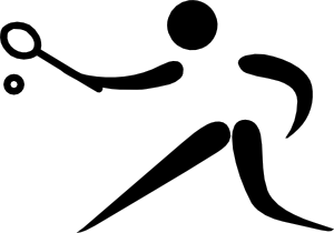 free vector Olympic Sports Racquets Pictogram clip art