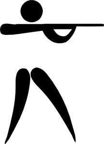 free vector Olympic Sports Shooting Pictogram clip art