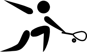 free vector Olympic Sports Squash Pictogram clip art