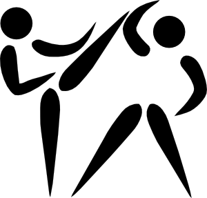 free vector Olympic Sports Taekwondo Pictogram clip art
