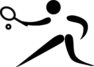 free vector Olympic Sports Tennis Pictogram clip art