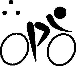 free vector Olympic Sports Triathlon Pictogram clip art