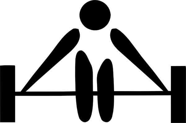 free vector Olympic Sports Weightlifting Pictogram clip art