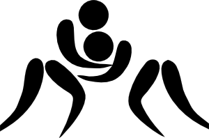 free vector Olympic Sports Wrestling Pictogram clip art