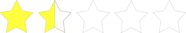 free vector One And A Half Star Rating clip art