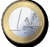 free vector One Euro Coin clip art 105830