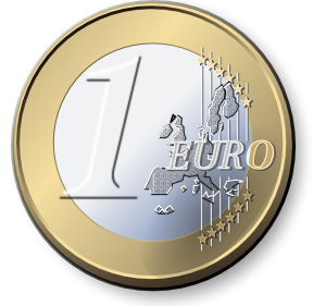 free vector One Euro Coin clip art