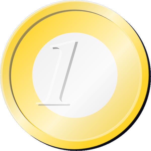 free vector One Euro Coin clip art