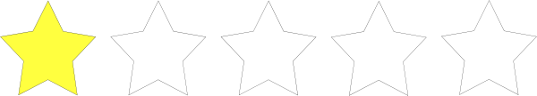 free vector One Star Rating clip art