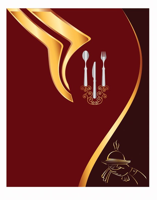 free vector One stroke character and cutlery vector