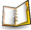free vector Open Binder clip art