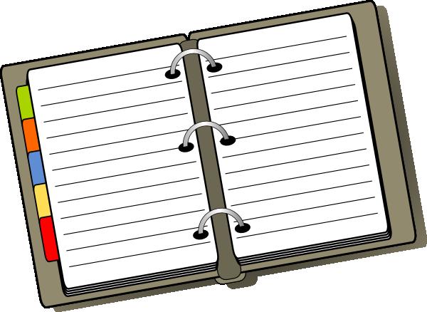 free vector Open Diary clip art