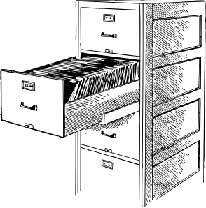 free vector Open File Cabinet clip art
