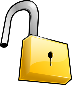 free vector Open Lock clip art