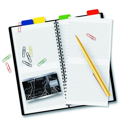 free vector Open notepad vector
