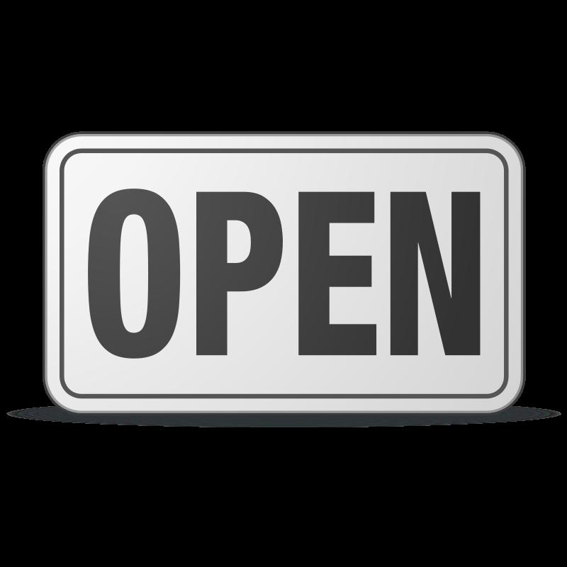 free vector Open Sign plastic