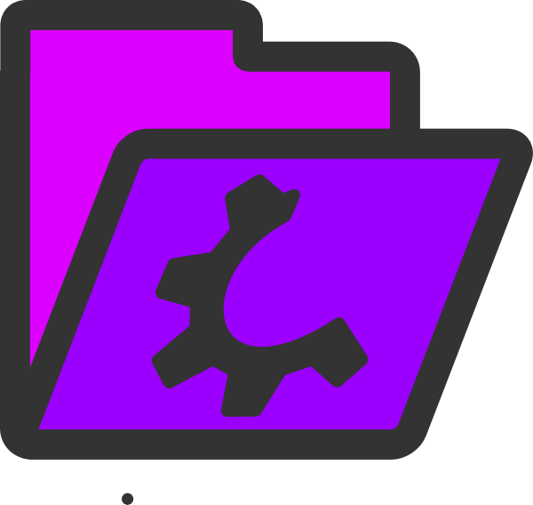 free vector Open Violet Folder Icon clip art