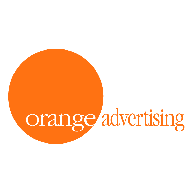 free vector Orange advertising