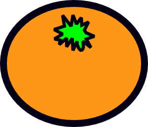 free vector Orange clip art