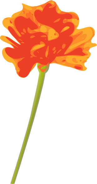 free vector Orange Flower clip art