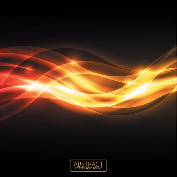 free vector Orange glare background vector 3