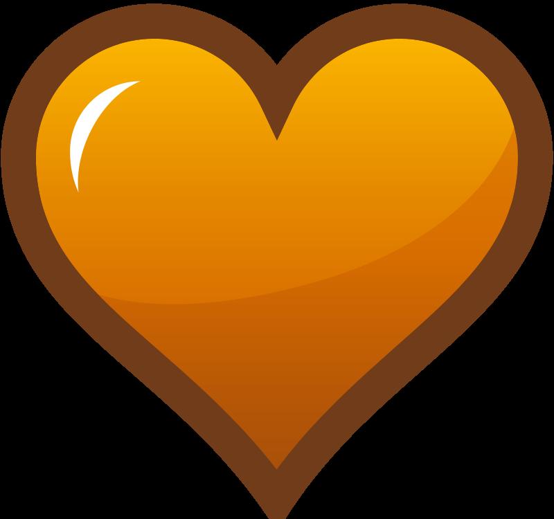 free vector Orange Heart Icon