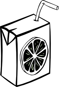 free vector Orange Juice Box (b And W) clip art