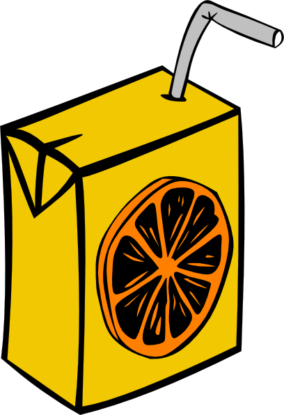 free vector Orange Juice Box clip art