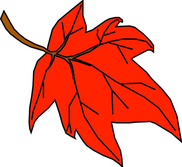 free vector Orange Leaf clip art