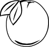 free vector Orange Outline clip art