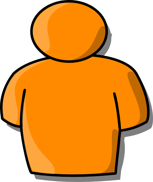 free vector Orange Person clip art