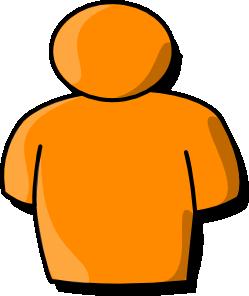 Orange Person clip art (111046) Free SVG Download / 4 Vector