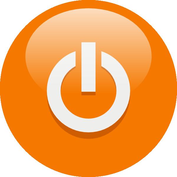 free vector Orange Power Button clip art