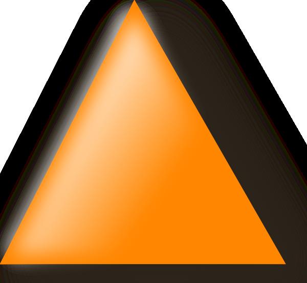 free vector Orange Triangle clip art