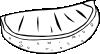 Orange Wedge (b And W) clip art Free Vector / 4Vector