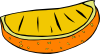 Orange Wedge clip art (113045) Free SVG Download / 4 Vector