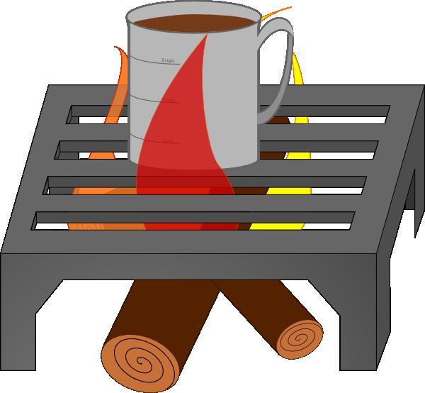 free vector Oreomasta Coffee Cup Over Fire Grate clip art