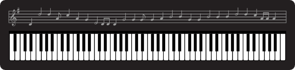 free vector Organ Keyboard clip art