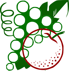 free vector Organge Grapes Cartoon clip art