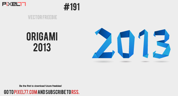 free vector Origami 2013
