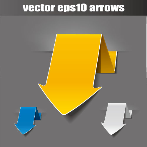 free vector Origami arrow 02 vector