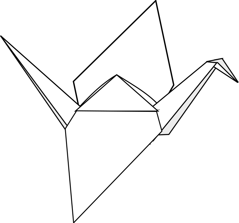Free Vector Origami Crane
