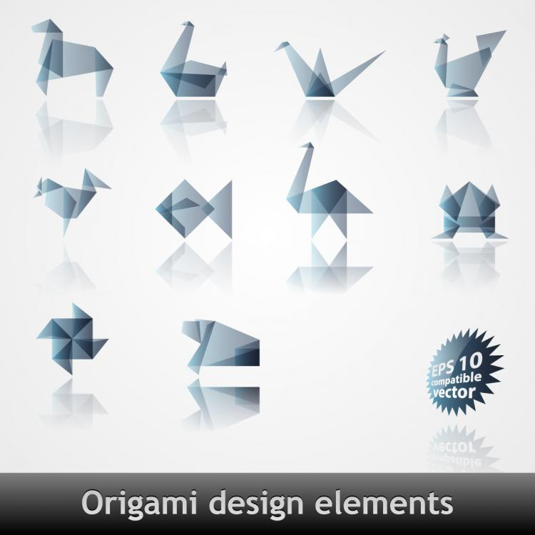 free vector Origami effect pattern vector