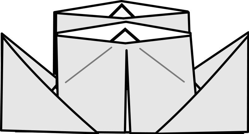 free vector Origami Steamer