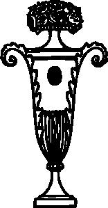 free vector Ornament Urn clip art 108013