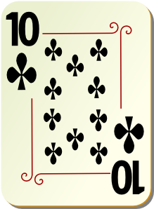 free vector Ornamental Deck Of Clubs clip art