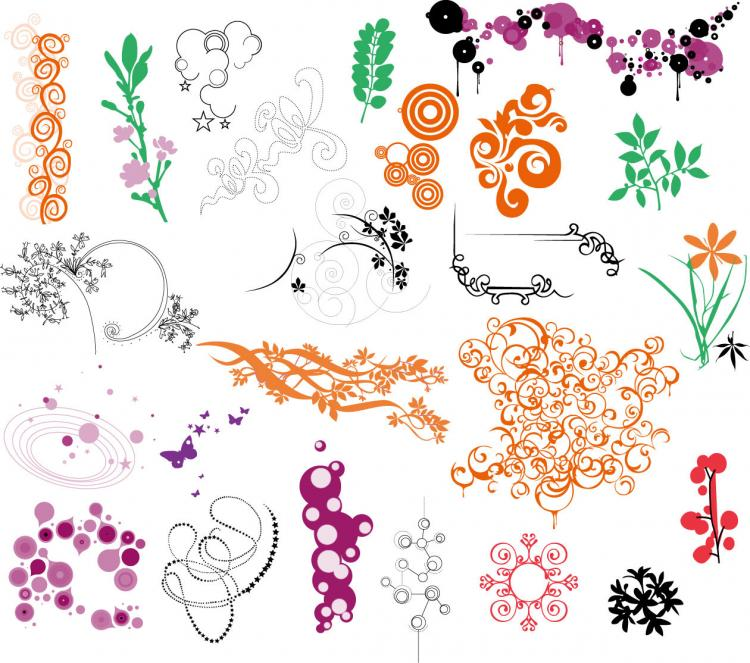 free vector Ornaments Vector Collection