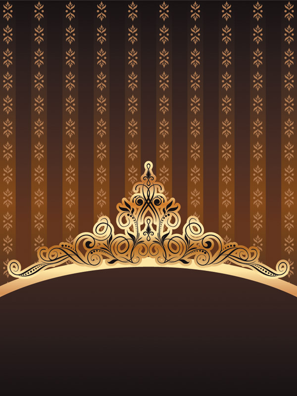 free vector Ornate gold pattern vector
