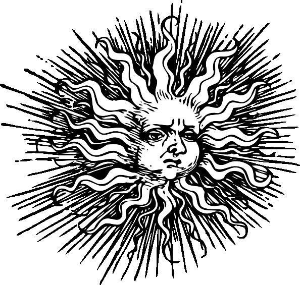 free vector Ornate Sun clip art