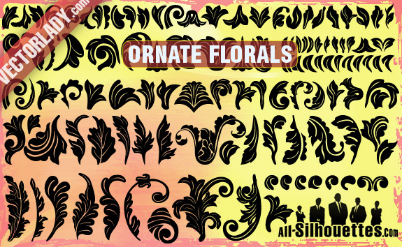 free vector Ornate Vector Florals